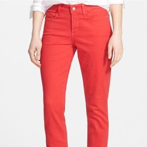 Not Your Daughters Jeans NYDJ Sheri Rouge Red